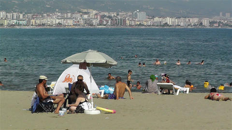 Alanya Turkey 84 beach Footage