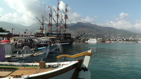 Alanya Turkey 88 port Stock Video Footage