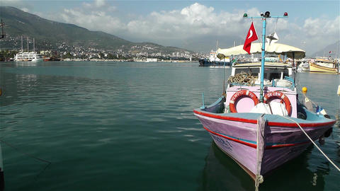 Alanya Turkey 90 port Stock Video Footage