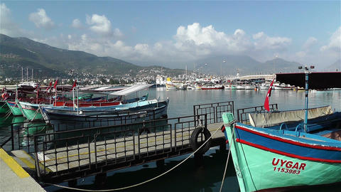Alanya Turkey 94 port Stock Video Footage
