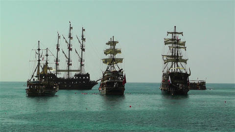 Alanya Turkey 98 ships Stock Video Footage