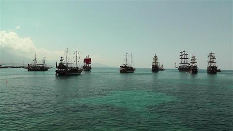 Alanya Turkey 101 ships Footage