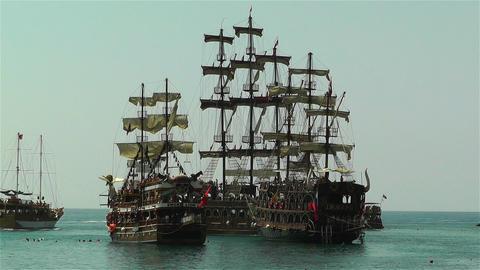 Alanya Turkey 103 ships Footage