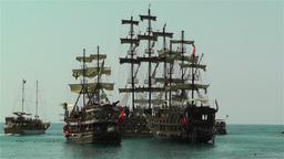 Alanya Turkey 103 ships Stock Video Footage