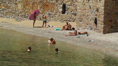 Alanya Turkey 107 beach Stock Video Footage