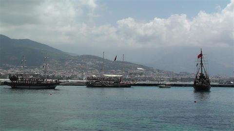Alanya Turkey 117 port Stock Video Footage