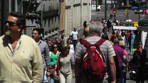 Calle Alcala Madrid Spain 2 Stock Video Footage