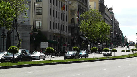 Calle Alcala Madrid Spain 4 Stock Video Footage