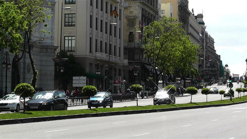 Calle Alcala Madrid Spain 4 Footage