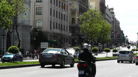 Calle Alcala Madrid Spain 4 Stock Video Footage