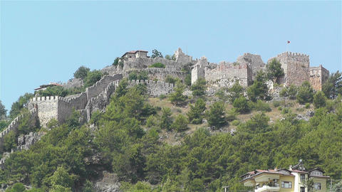 Castle of Alanya Turkey 3 Footage