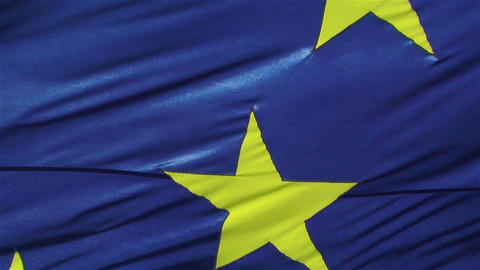 European Union Flag 1 Native Slow Motion stock footage