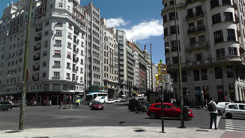 Gran Via Madrid Spain 1 Footage