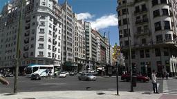 Gran Via Madrid Spain 1 Stock Video Footage