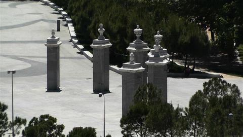 Madrid Spain 5 entrance Casa De Campo Stock Video Footage