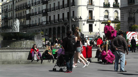 Madrid Spain Puerta Del Sol 2 Stock Video Footage