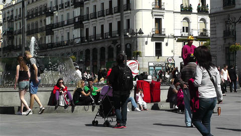 Madrid Spain Puerta Del Sol 2 Footage