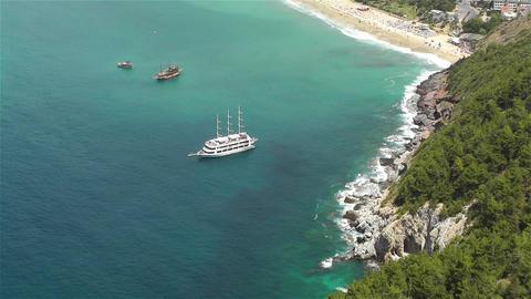 Mediterranean Sea 1 Stock Video Footage