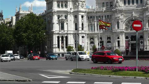 Plaza De Cibeles Palacio De Comunicaciones 4 Footage