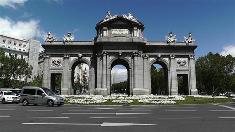 Plaza Independencia Puerta De Alcala Madrid Spain Stock Video Footage
