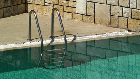 Pool Stairs Stock Video Footage