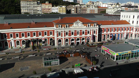 Principe Pio Madrid Spain 2 aerial Stock Video Footage