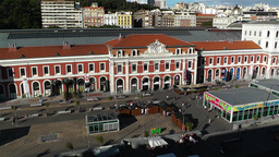 Principe Pio Madrid Spain 2 aerial Stock Video Footage