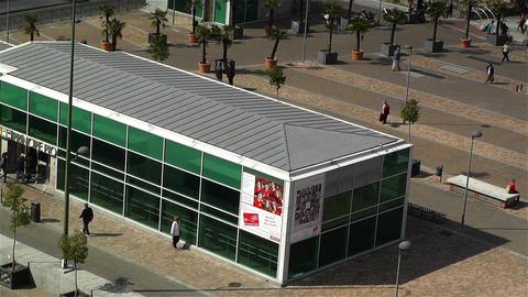 Principe Pio Metro Station Madrid Spain 3 aerial Stock Video Footage