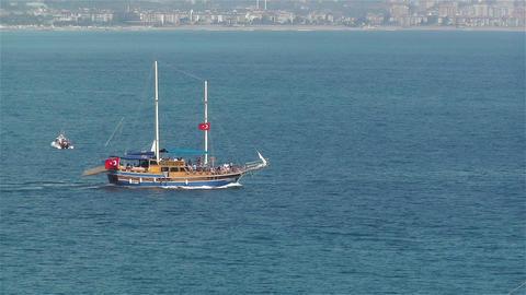 Ships in Turkey 1 Stock Video Footage