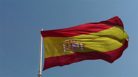 Spanish Flag native slowmotion 1 Footage