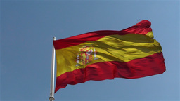 Spanish Flag native slowmotion 1 Stock Video Footage
