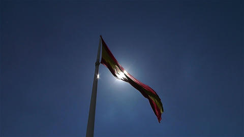 Spanish Flag native slowmotion 5 Footage