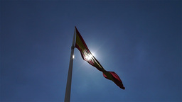 Spanish Flag native slowmotion 5 Stock Video Footage