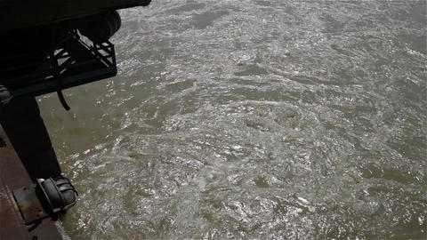 Strong Flood River Current 2 Stock Video Footage