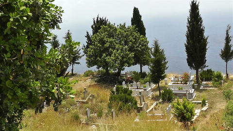 Turkish Cemetery in Alanya Turkey 1 Stock Video Footage