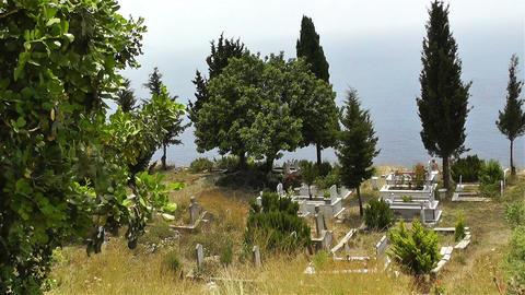 Turkish Cemetery in Alanya Turkey 1 Stock Video Footage