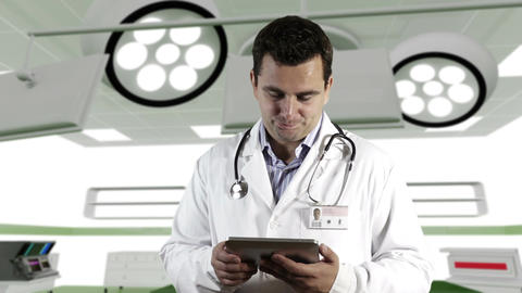 Young Doctor Tablet PC Operation Room 1 Footage