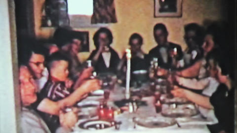 Christmas Turkey Dinner With Family 1958 Vintage Stock Video Footage