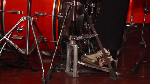 Boy Plays on Drum 3 Stock Video Footage