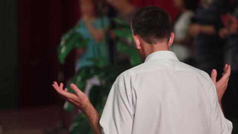 Man Prays 1 Stock Video Footage