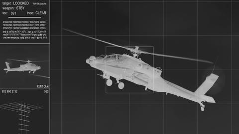 infrared Apache AH 64 Helicopter on target 11002 Footage
