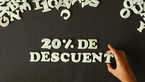 20 percent discount (In Spanish) Stock Video Footage