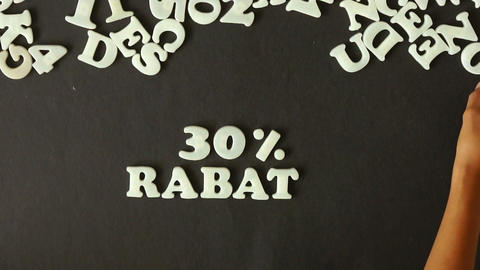 30 percent Discount (In German) Stock Video Footage