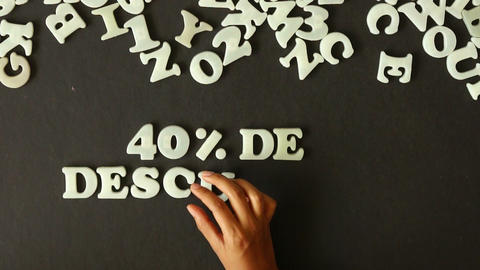 40 percent Discount (In Spanish) Stock Video Footage