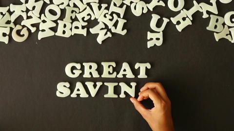 Great Savings Stock Video Footage