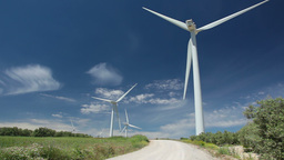 Wind power and blue sky Stock Video Footage