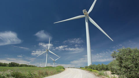 Wind power and blue sky Footage