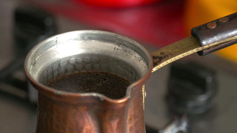 Antique hand coffee HD Stock Video Footage