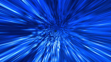 Star Burst Rays Tunnel Vortex Blue Background Stock Video Footage
