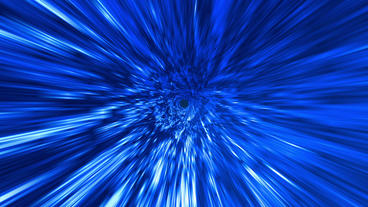 Star Burst Rays Tunnel Vortex Blue Background stock footage